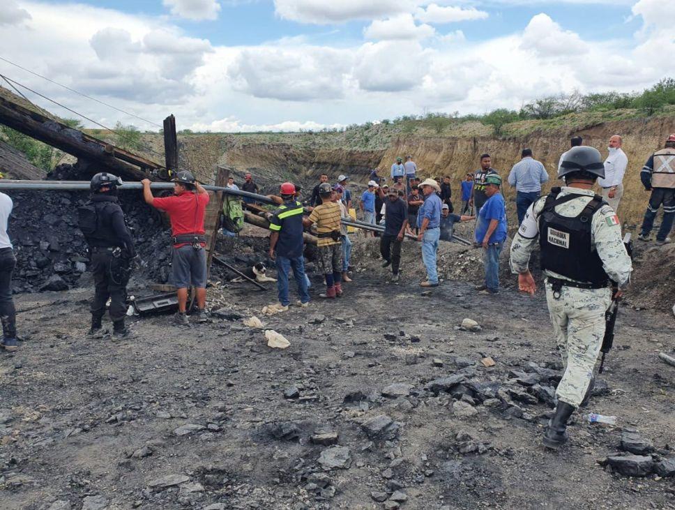 Derrumbe de mina en Múzquiz, Coahuila, deja 7 mineros enterrados