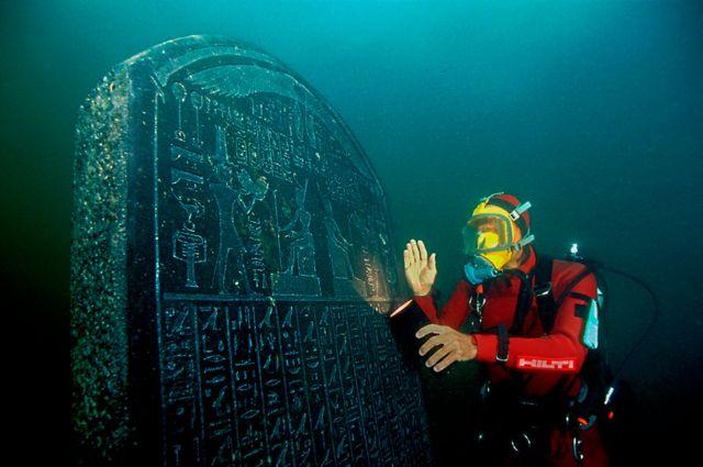 """Hallan nuevos vestigios de """"Heracleion"""", la antigua ciudad egipcia sumergida"""