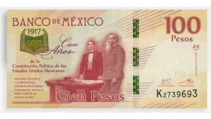 Billete de 100 pesos del Centenario se vende en 5 mil; es muy valioso por esta razón