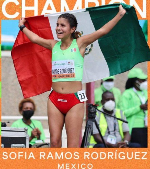 Sofía Ramos ganó oro en los 10 km marcha del Mundial sub-20 de atletismo