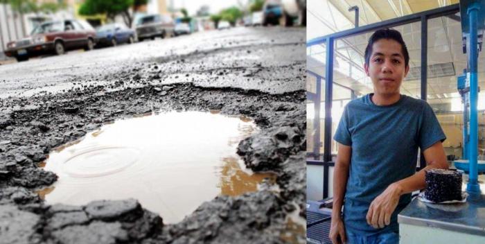 """Reconocimiento Global a Antonio Briseño por """"Paflec"""" pavimento que se regenera con agua."""