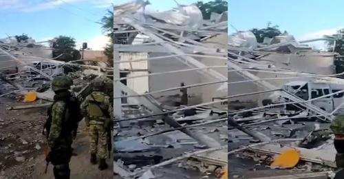 Estallaron drones con explosivos almacenados en narcobodega de Tepalcatepec